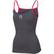 Karpos Bull Sun Top Women Dark Grey/Raspberry